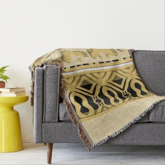 Ostriches Gold Throw Blanket