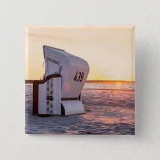 Ostsee sunset 15 cm square badge