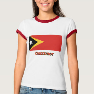 Osttimor Flagge mit Namen T-Shirt