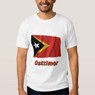 Osttimor Fliegende Flagge mit Namen Shirt