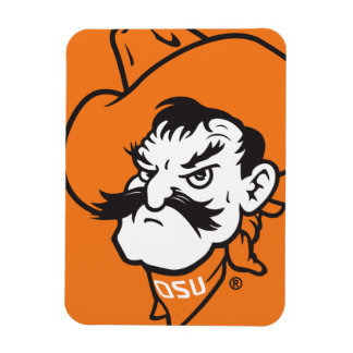 OSU Pistol Pete Head Rectangular Photo Magnet