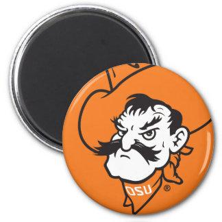 OSU Pistol Pete Head 6 Cm Round Magnet