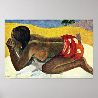 Otahi Allein By Gauguin Paul (Best Quality) Poster