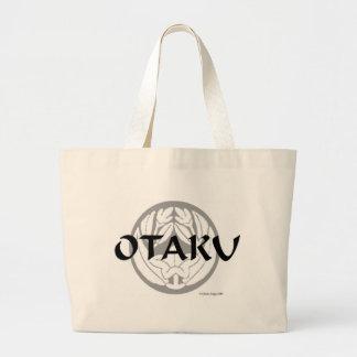 Otaku Flower Crest 2 Large Tote Bag