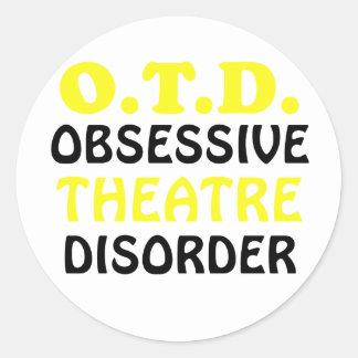 OTD Obsessive Theatre Disorder Round Sticker