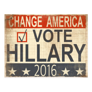 ote Hillary Clinton 2016 Election Postcard