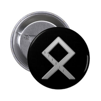 Othala Rune grey 6 Cm Round Badge