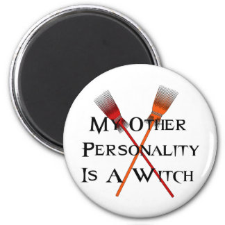 Other Personality Witch 6 Cm Round Magnet