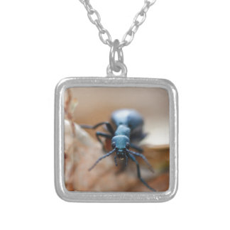 Other Worldly Insect Silver Plated Necklace