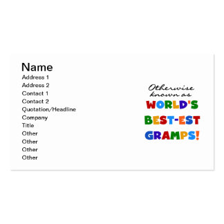 Otherwise Known as Best-est Gramps Business Card Templates