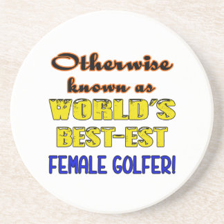 Otherwise known as world's bestest female golfer beverage coasters