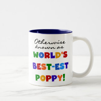 Otherwise Known Best-est Poppy Tshirts and Gifts Two-Tone Coffee Mug