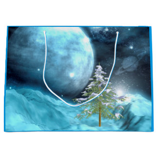 Otherwordly Christmas Large Gift Bag