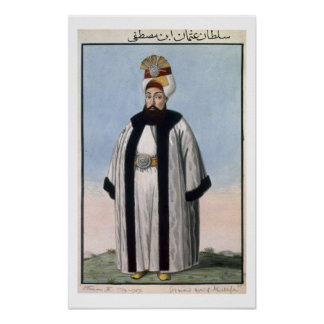 Othman (Osman) III (1699-1757) Sultan 1754-57, fro Posters