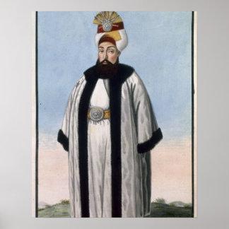 Othman (Osman) III (1699-1757) Sultan 1754-57, fro Poster