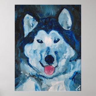 Otis in Blue Poster