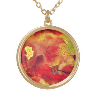 """""""otoño"""" art by Beth Wellesley Gold Plated Necklace"""