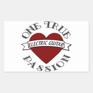 OTP Electric Guitar Rectangle Sticker