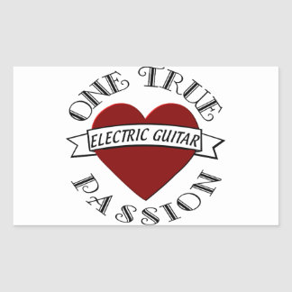 OTP: Electric Guitar Rectangle Sticker