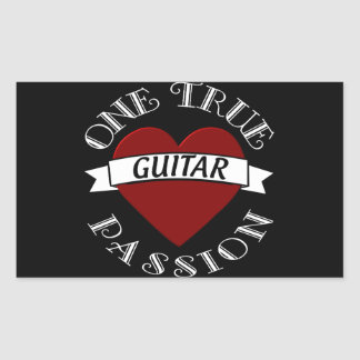 OTP: Guitar Rectangle Stickers