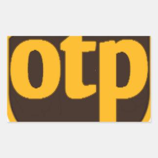 OTP RECTANGULAR STICKER