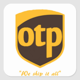 OTP SQUARE STICKER