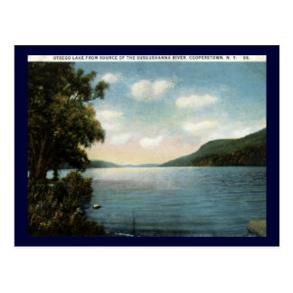 Otsego Lake, Cooperstown NY 1922 Vintage Postcard