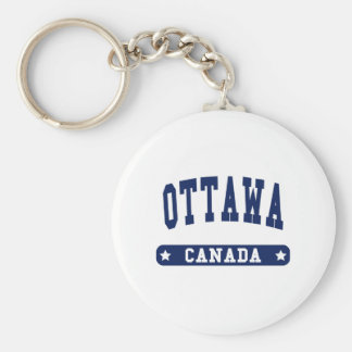 Ottawa Basic Round Button Key Ring