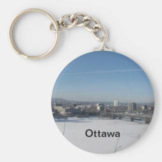 Ottawa Canada Basic Round Button Key Ring