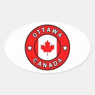 Ottawa Canada Oval Sticker