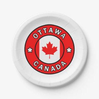 Ottawa Canada Paper Plate