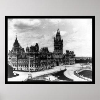 Ottawa Canada Parliament Buildings 1922 Poster
