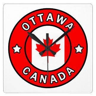 Ottawa Canada Square Wall Clock