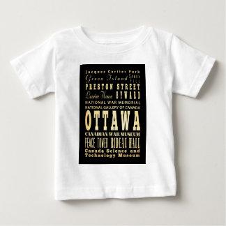 Ottawa City of Canada Typography Art Baby T-Shirt