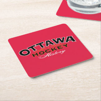 Ottawa Hockey History Square Coasters