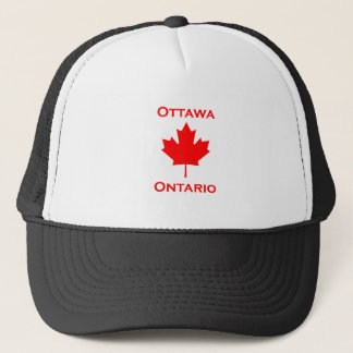 Ottawa Ontario Maple Leaf Trucker Hat