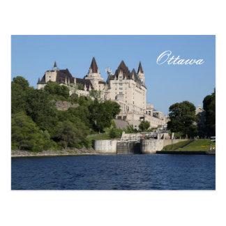 Ottawa, Rideau Canal, Laurier Postcard