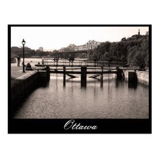 Ottawa, Rideau Canal, Postcard