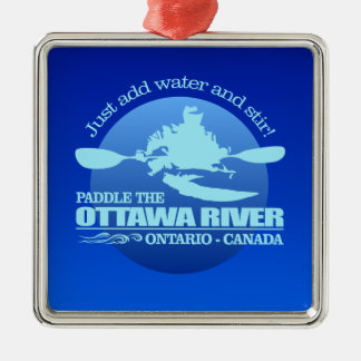 Ottawa River (Blue) Metal Ornament