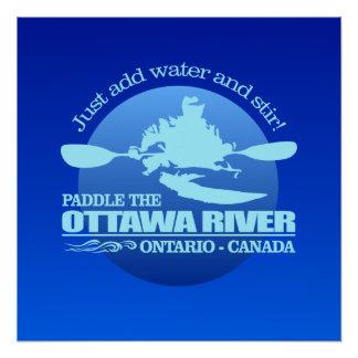 Ottawa River (Blue) Poster