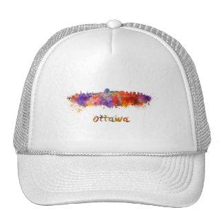 Ottawa skyline in watercolor cap