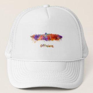 Ottawa skyline in watercolor trucker hat