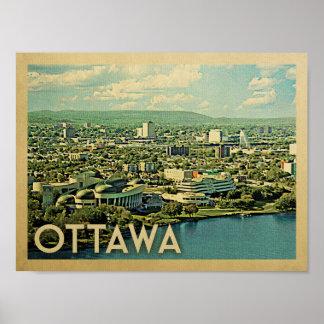 Ottawa Vintage Travel Poster