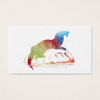 Otter art business card