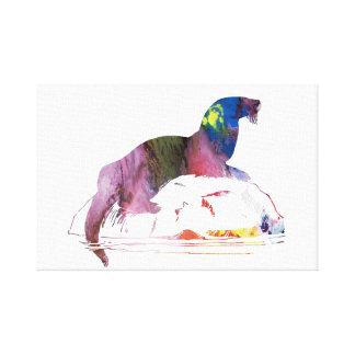 Otter art canvas print