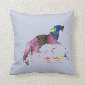 Otter art cushion