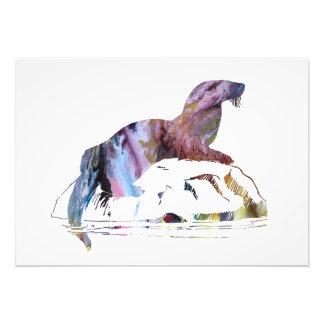 Otter art photo print