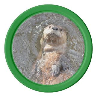Otter Back Float Poker Chips