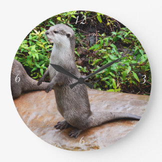 Otter Be Talking Large Round Wall Clock. Large Clock