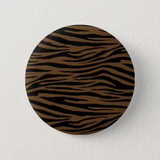 Otter Brown Tiger 6 Cm Round Badge